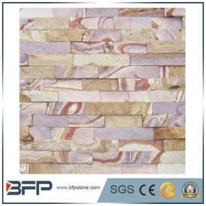 Exterior Wall Pink Sandstone Stacked Ledgestone Slate pictures & photos