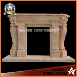 Limestone Fireplace Surround Marble Fireplace Mantel for Home Decoration pictures & photos