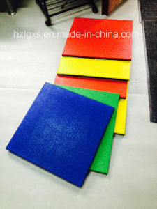 Surface Dyeing Recyle SBR Granules Rubber Tile Flooring pictures & photos