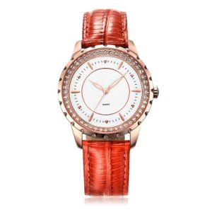 Four Colors Genuine Leather Womens Wristwatch pictures & photos