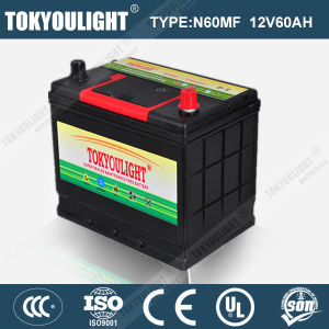 JIS Standard Maintenance Free Lead Acid Battery with N60mf 12V60ah for Japanese Car