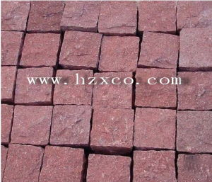 Red Porphyry Cubestone, Cobble Stone, Putian Red, Paving Stone, Porphyry pictures & photos