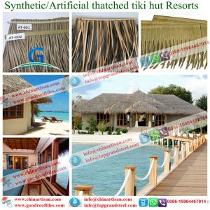 Maldives Islands Tiki Bar/ Hut Synthetic Thatched Cottage Water Bungalow pictures & photos