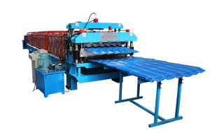 Wall Panel and Tile Double Layer Roll Forming Machine pictures & photos