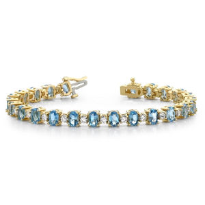 925 Silver CZ and Citrine Classic Tennis Bracelet Jewelry pictures & photos