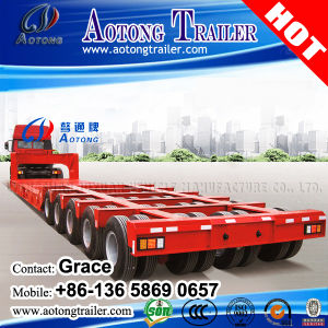Original Widely Used Tyre Exposed 100t 3 Line 6 Axles Low Bed Semi Trailers for Sale pictures & photos