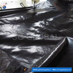 Black Waterproof PE Tarpaulin Rolls for Covering pictures & photos