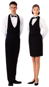 Custom Fashion Hotel Uniforms for Men and Women -Hs001 pictures & photos
