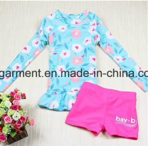 Girl′s Long Sleeve Swimming Suit, Lace Lovely Swimming Wear pictures & photos
