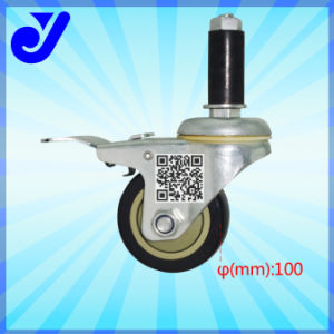 PU Industria Caster|Universal Casters|with Brake Caster|Caster Wheel (Jy-405)
