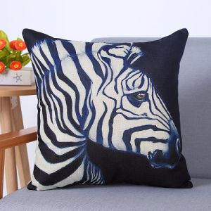 Digital Print Decorative Cushion/Pillow with Zebra Pattern (MX-87) pictures & photos
