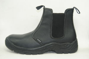 Safety Boots with Embossed Buffalo Leather and Steel Plate PU Outsole Rh206