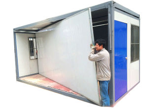 Construction Site Low Price Folding Container Cabin House pictures & photos