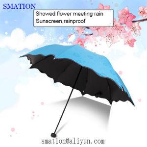 C Holder Reverse Folding Fashion Promotion Lady Women Vinyl Sun Umbrella pictures & photos