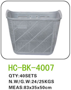 Plastic Bicycle Basket for All Kinds of Bicycle (BK-4007) pictures & photos