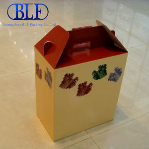 Corrugated Paper Packing Box with Handle (BLF-PBO048) pictures & photos