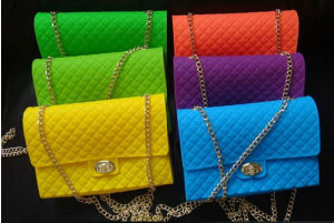 Silicone Shoulder Bag for Women with Chain