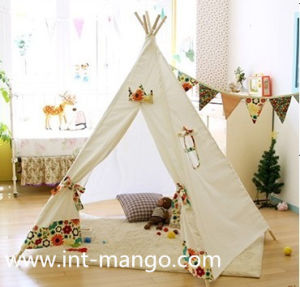 Pentagon Wooden Teepee Kids Playing Tents (MW6008) pictures & photos
