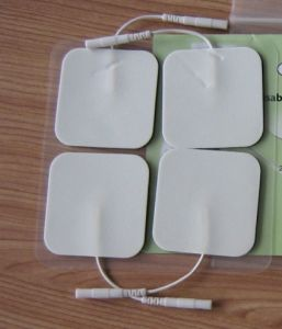 Self Adhesive Pain Release Tens Pads White Cloth pictures & photos