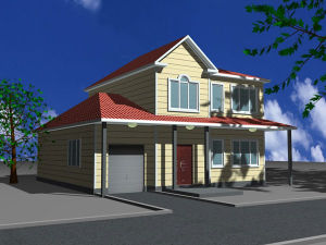 Two-Storey Steel Structure Prefab House (KXD-pH115) pictures & photos