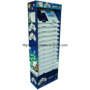 Most Practical Products Temporary Cardboard Magazine Floor Paper Display Stand pictures & photos