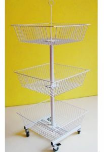 3-Tier Square Basket Rack (WB-F-002)