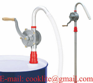 Aluminum Rotary Drum Barrel Hand Pump 55 Gallons Self Priming Dispenser pictures & photos