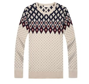 Custom Fashion Men Round Neck Cheap Knit Wool Sweater pictures & photos