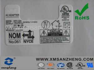 Electrical Nameplate Pet Label Stickers pictures & photos