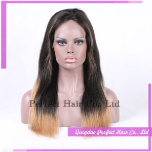 Full Lace Front Black Blonde Bang Wig pictures & photos