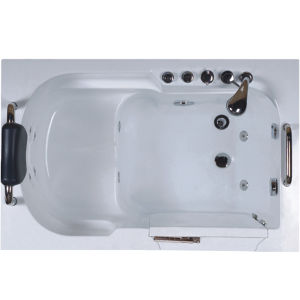 China walk in tub shower combo with seat bathtub china for Walk in tub water capacity