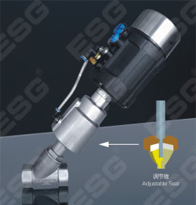 Ss Material Angle Seat Valve with Positioner pictures & photos
