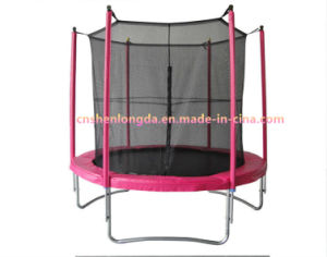 Family Pink Trampoline with Intranet, Kid Trampoline, Family Fitness Trampoline pictures & photos