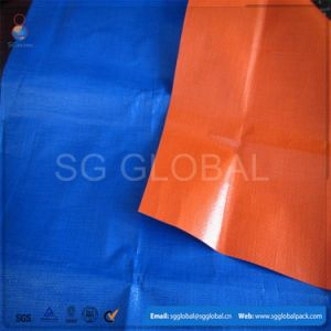 Blue Orange Waterproof PE Tarp Cover with Eyelets pictures & photos