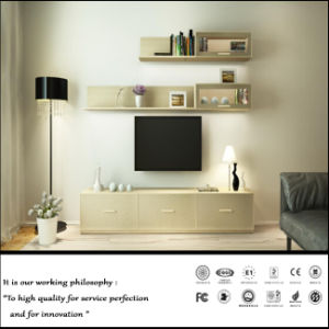 TV Cabinet Furniture with Withe Wall Cabinet (ZH2035) pictures & photos