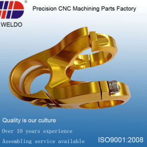 Bicycle Metal Processing Precision CNC Machinery Parts with Gold Plating pictures & photos