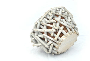 Manufacturer White Rattan Flower Pot with Coco Lining pictures & photos