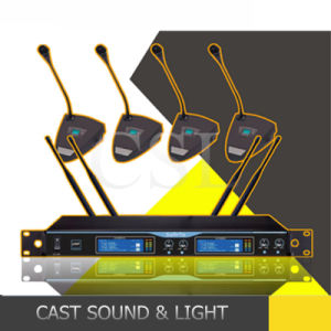 PRO Audio Conference System 4 Channels Wireless Condenser Microphones pictures & photos