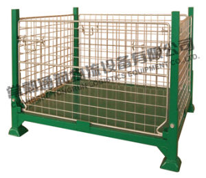 Stackable Steel Storage Mesh Cage (SWK8014) pictures & photos