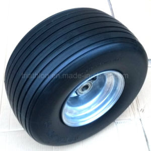 18 Inch 18X850 Ribbed No Flat Polyurethane Foam Tires pictures & photos