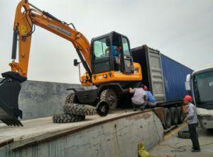 4WD Hydraulic Wheel Excavator, 4X4 Excavator for Sale pictures & photos