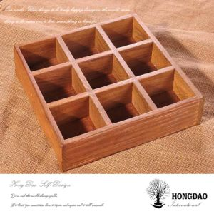 Hongdao Custom Wooden Planter Box with Dividers on Table Wholesale_L pictures & photos