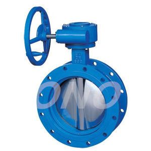 Motorized Operated with Handwheel Hardface Butterfly Valve pictures & photos
