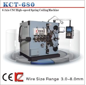 Kct-680 8mm 6 Axis Compression Spring Coiling Machine pictures & photos