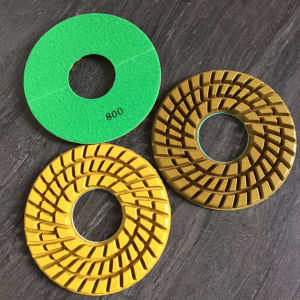 7 Inch Resin Concrete Pad with Magic Tape Back pictures & photos