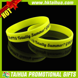 Custom Made Silicone Bracelets for Printed (TH-band059) pictures & photos