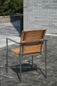 Stainless Steel Teak Wood Garden/Restaurant Chair pictures & photos