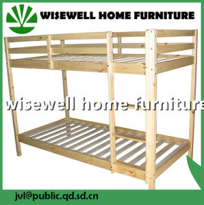 Pine Wood Bunk Bed in Natural Color pictures & photos