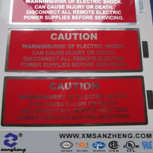 Customized Aluminum Caution Sticker (SZ14067) pictures & photos