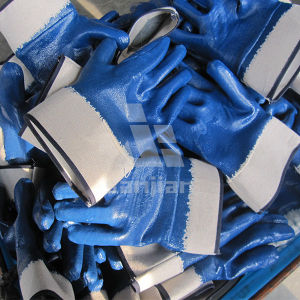 Heavy Duty Nitril Coated Glove with Jersey Lining pictures & photos